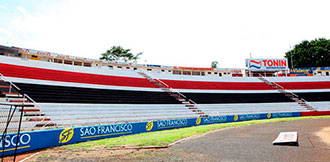 Pintura do estádio Santa Cruz